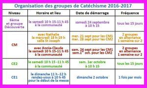 Organisation KT – Année 2016-2017