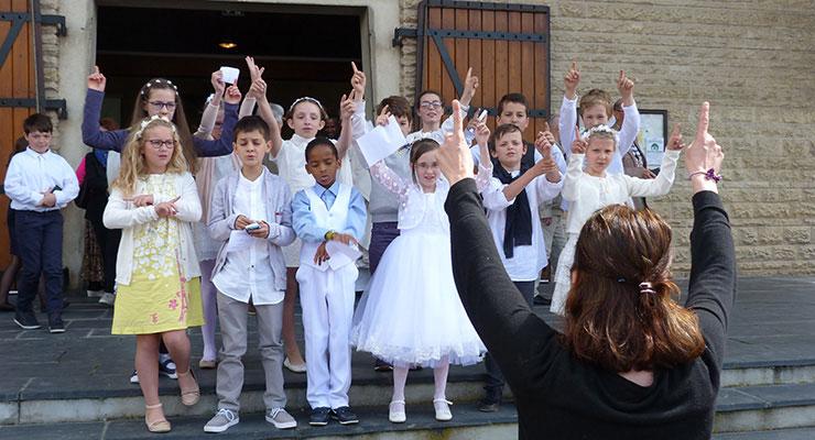 Première des communions et Profession de foi 2017