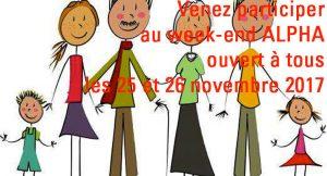 [25.11.17] Week-end ALPHA ouvert à tous