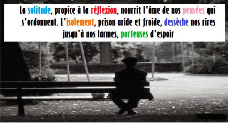 solitude ou isolement