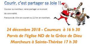 course et marche de Noël