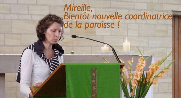 2020 – Mireille, nouvelle coordinatrice de notre paroisse