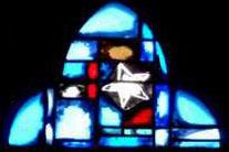 détail vitrail église de Louvigny