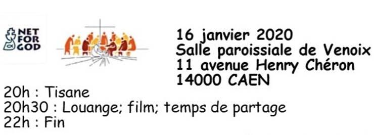 [16.1.20] Soirée «La Fraternité retrouvée»