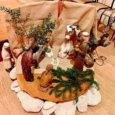 crèche de Noël - Saint-Vigor à Louvigny