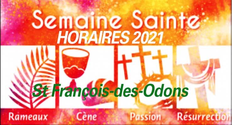 Semaine sainte 2021 : les horaires