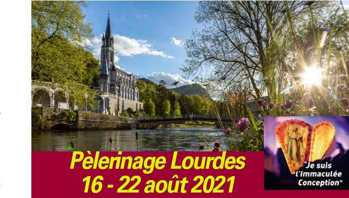 [16-22.8.21] Avec le pèlerinage diocésain à Lourdes